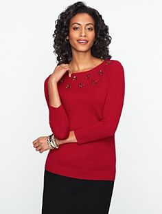 Beaded Bateau Sweater #Talbots