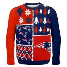 Patriots Busy Block Ugly Sweater