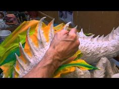This is a really cool video demonstration of creating a papier mache sea dragon. Check out other great demos on the web site: www.gourmetpapermache.com