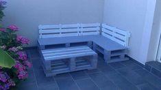 Diy pallet furniture, looks simple enough here.
