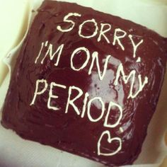 thoughtful: baking a cake to apologize for a bad mood