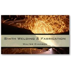 Metal Fabrication and Welding Business Card from http://www.zazzle.com/welding+businesscards