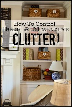 HOW TO CONTROL BOOK AND MAGAZINE CLUTTER