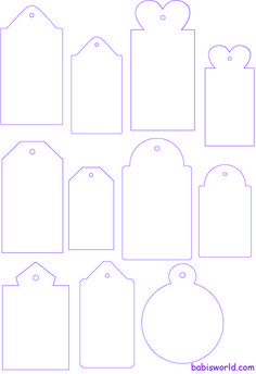 Tag templates #crafts #diy #tag