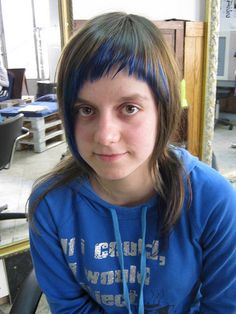 haircut with blue color by wip-hairport, via Flickr