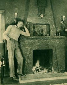 Gary Cooper at home, 1930s