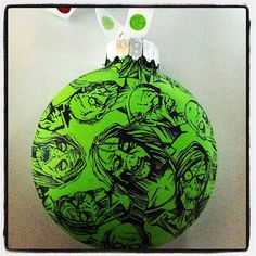 Zombie Christmas Ornament by H2OGrafix on Etsy, $8.00