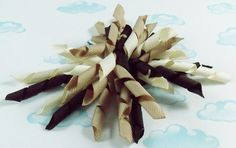 Korker bow Brown cream and tan korker hair bow by BowtisticDreams