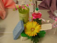 Create In Me A Clean Heart - centerpiece and favors