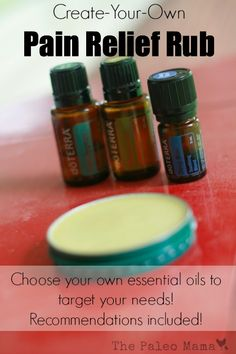 Create-Your-Own Pain Relief Rub http://www.mydoterra.com/eodaily/ Follow me here on facebook: https://www.facebook.com/eodailyliving