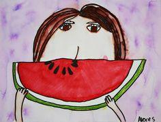 Watermelon Smiles Self Portraits