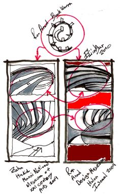 BookWorm concepts for 2 different Architects: Zaha Hadid and Ron Arad