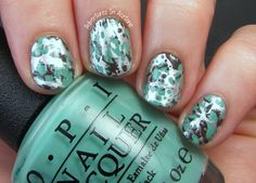 Adventures In Acetone: OPI Nordic Water Spotted Nail Art!