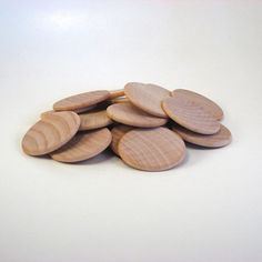 40 Wood disks - 1.25 inch coin