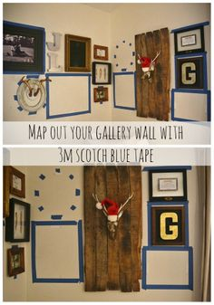 DIY Corner Gallery Wall