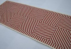 Red and White Quilted Table Runner Hand by CentralFabrications, $35.00
