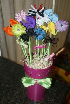 """""""Bowquet""""  Perfect for a little girl baby shower, love it!"""