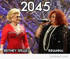 Britney Spears and Rihanna in 2045
