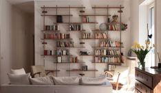 Minumum[book] shelving.