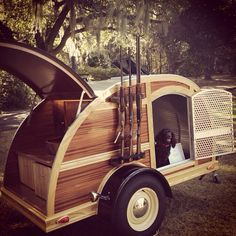 luxury mobile dog kennel. We can't forget to include Tully in our plans.