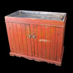 Vintage Red Dry Sink ...love the color