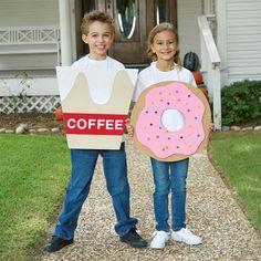 Easy DIY Donut and Coffee Halloween Costume