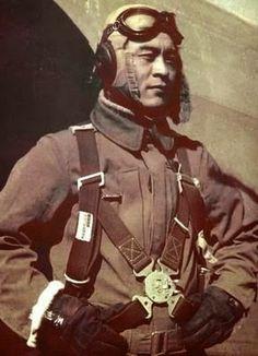 Japan. A Kawasaki KI 45 pilot