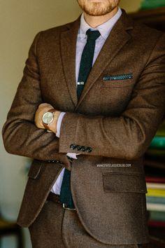 January 17, 2014. Suit: Herringbone Suit - Topman - $110 (70% off sale!!) (similar)Shirt:Zachary Oxford in Lavender- $45 -Frank  Oak...