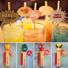 Superhero drink straws! Make them before the party or have the kids create them as an activity