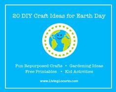20 DIY Craft & Gardening Ideas for Earth Day via LivingLocurto.com