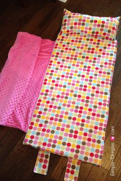 Simple Dimples: Nap Mat with Applique Name Tutorial