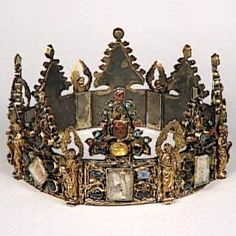 St. Louis Relic Crown of the Holy Thorns. The Louvre, Paris. Purchased in 1239 from the Emperor of Constantinople.