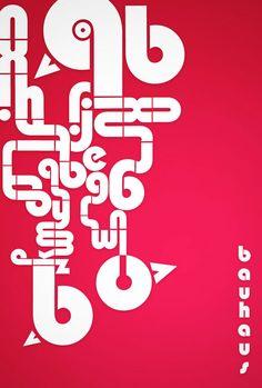 #bauhaus #design #poster #pink #typeface #typography