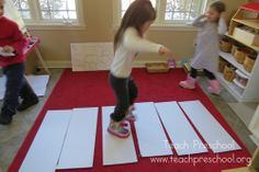 The step ladder game by Teach Preschool