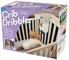 @kayla_renae  and @gsxr600stunter  Thought of you when I saw this! LOL!!! The Crib Dribbler Feeds Your Kid So You Don't Have To