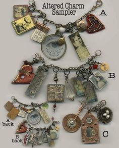 Altered charm sampler-lots of charms to savor