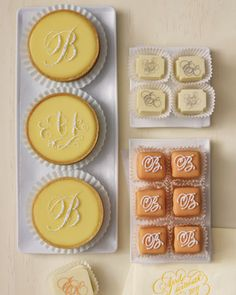 Sweet treats topped with pretty script initials