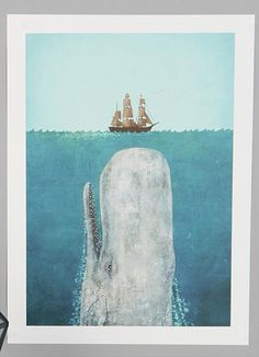 Terry Fan The Whale Art Print