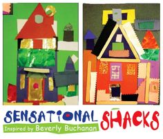 Elementary-level students examine the lines, shapes and textures of artist Beverly Buchanan's shack drawings, and create collages. collag, artist