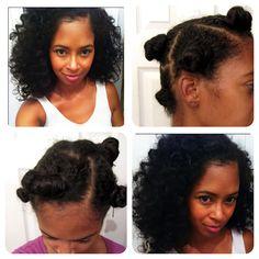 Chunky bantu knot-out. (NikStar) #curlyhairrocks #officiallynatural