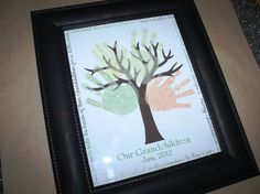 Grandchildren Tree of Love 11x14 Print - DIY Gift for the Grandparents with Kids Hand Prints. grandpar, crafti stuff, print diy, trees, hand prints, diy gifts, gift idea, kiddo, kid craft