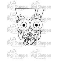 $3.00 Frankenstein Owl Digital Stamp from A.J.'s Digi Shoppe™