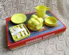 Soviet Vintage Estonian Plastic Doll Dishes - 1980's
