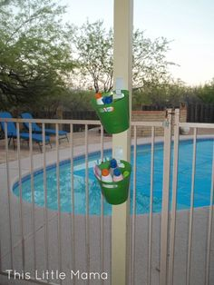 sunscreen station for any pool party or outdoor birthday party get together
