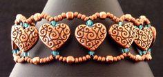 Copper Heart Bracelet by JewelryByVoilaNaNa on Etsy, $21.50