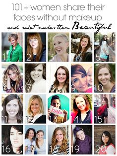 women sharing their natural beauty - no makeup - brassyapple.com #iambraveandbeautiful #colbietry