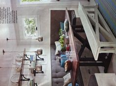 Dining room bench seat * adorable bench! Would love for front porch.
