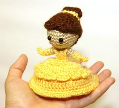 Belle Beauty and the Beast Disney Princess Crochet Doll - @Zoe Rayner, you need to crochet me every Disney character imaginable!