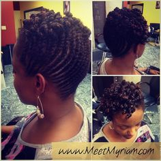 Strand Flat Twist Protective Style Updo For Natural Hair LHDC TV