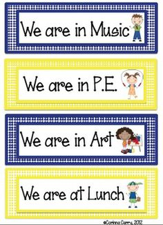 By request, I've made a yellow and navy blue version of the Look Where We Are Poster Labels! These labels can be used to create a poster that shows others where your class is when you leave the classroom.